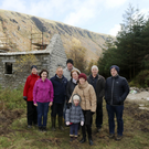 The Glenmalure Pure Mile committee at the crusher house
