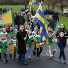 Kilcoole Camogie Club taking part in the parade