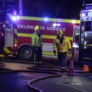 Firefighters tackle blaze at Stylebawn House on Saturday evening