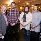 Cllr Derek Mitchell, Clive Dalby, Peta Scott, Nathalie Richardson and Cllr Grainne McLoughlin at the residents' meeting