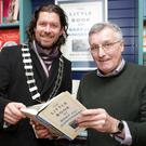 Cathaoirleach of Bray Municipal District Cllr Steven Matthews with Brian White at the launch of 'The Little Book of Bray and Enniskerry'