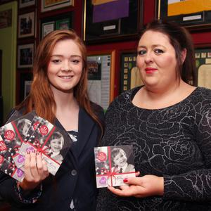 Singer Aoife Parle (right) with co-writer, Aisling O'Dwyer