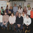 Gerald Kean with members of Wicklow Hospice foundation, Wicklow sports partnership and the participants in operation transformation, Amy Tierney, Mick Keating, Joanne Kavanagh, John Frazer, Paula Daly, Mary Byrne, Siobhan O'Sullivan, Susan Dixon and Sharon daly in the Grand hotel, Wicklow