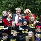 RTE stars Aine Lawlor and Miriam O'Callaghan and leading cancer specialist Prof John Crown were joined by the Piccolo Lasso children's choir to launch Give Us A Song