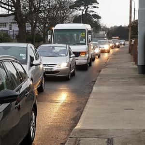 Traffic on Vevay Road in Bray
