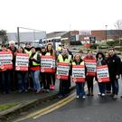 Workers at Tescos in Greystones joined the strike on Friday