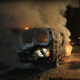 The speed van on fire at Ashwood on March 13, 2011