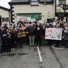 A protest outside Laragh Post Office in January attracted over 200 people