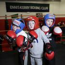 Young members of Enniskerry Boxing Club, Desmond Traynor, Terry O'Brien and Michael Connors