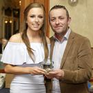 Ladies' Player of the Year and All-Star forward Amy Murphy with Shane Langrell