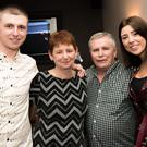 Scott with his son Neil, wife Margaret and daughter Ciara