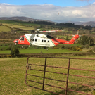 Rescue 116 on a rescue mission in Roundwood on Sunday, March 12, days before it disappeared off the Mayo coast. (photo: Deputy Andrew Doyle)