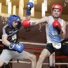 Dan O'Neill and Gavin Parslow do battle in the ring