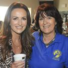 Lorraine Keane with Eileen Horan at last year's coffee morning in the Beach House in Greystones