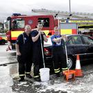 Firemen, including Ciaran Hayden, Keith Clancy, Stephen Wade, Brian Galligan, Alan Monahan, Ferghal Murphy and Ray Salmon, had the cars of the people of Greystones gleaming and raised some money for much-needed lifeboats