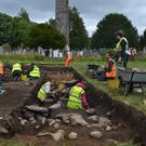 A community excavation at Glendalough in 2016. (Photo: Deirdre Burns)