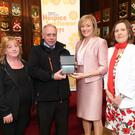 Vincent Doran with his wife Mary, RTEs Mary Kennedy and Evanne Cahill, Wicklow Hospice Foundation.