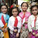 Achi, Shakitta, Iza and Shaina who performed the Cublak Suweng dance from Central Java at last year's festival.