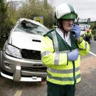 Jim Kennedy at the scene of a crash on the N11 last month.