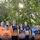 Some of the runners at Shanganagh Park for their Tuesday night run.