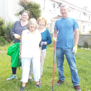 Tracy Wilson, Ann Moore, Eileen McNulty and Jason McNulty at the clean-up