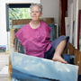 Mary in her studio