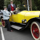 Andrew Bailey and Philippa Spiller with Andrew's 1918 Stutz