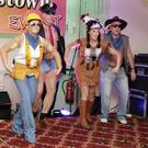 The Village People hit the stage: (from left) Debbie Gahib, Louise McCormack, Dave Kelly, Lorraine O'Toole and John Kelly