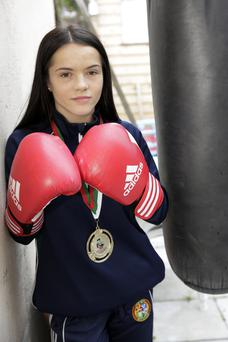 Daina Moorhouse with her gold medal