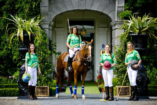Polo team members Caroline Keeling, Siobhan Herbst, Julie Kavanagh and April Kent.