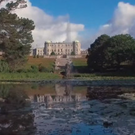 The video features two Wicklow locations - Powerscourt House and Gardens and Mount Usher Gardens