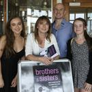 Adele O'Neill with her husband Alan and daughters Alanna and Ava at the launch of 'Brothers and Sisters' at Arklow Golf Club