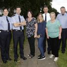 Kilcoole Neighbourhood Watch meeting at Forresters Hall: Garda Molly Corbett, Garda Alan Thompson, Charlotte Byrne, Sharon O'Connor, Deirdre Moran, Chief Supt JP Quirke, Inspector Seamus Rothwell, Sgt Barry Turner