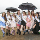 The show queen contestants were dressed for the weather at the 2016 Tinahely Show