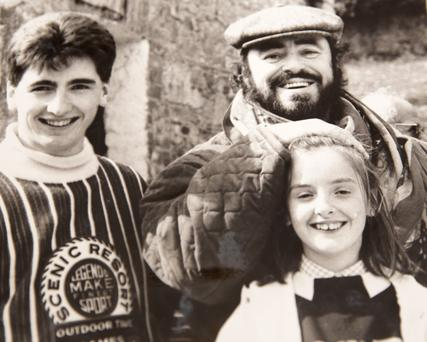 Victor and Leona Evans with Luciano Pavarotti at the Bel-Air in 1990