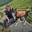 Sheelagh O'Malley with Rowan at the Wicklow Gap