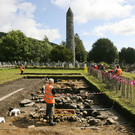 Archaeologists from UCD during the Big Dig at Glendalough