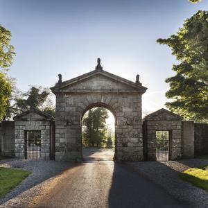 The entrance gate at Russborough House