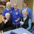 (Back, from left) Breda Murphy, Dora Hayden, Theresa Bradshaw, (front) Bridie Murphy and Mary O'Loughlin at the Greystones Cancer Support coffee morning last Thursday.