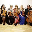 Concert participants Grainne Hope, Andreea Baniu, Mia Cooper, Beth McNinch, Jane Hackett and Bill Butt.
