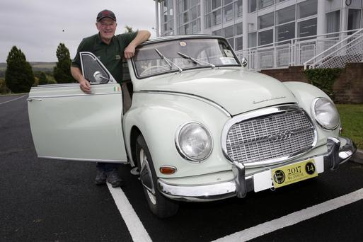 Billy Ryan with his 1958 1000cc Auto Union DKW, made in Cork, at Sunday's vintage show