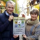 Tommy Gordon, Five Loaves Centre Manager, and artist Brigid O'Brien