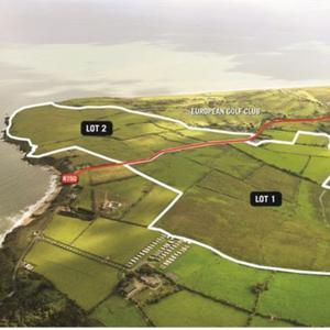 The 240-acre plot of land at Brittas Bay.