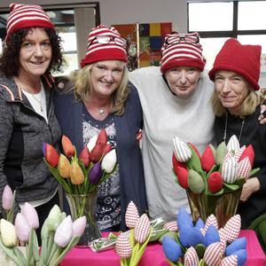 Cathy Sharry, Suzanne Cox, Dei Mooney and Ann Kuntz at the craft fair at Open Door in Bray