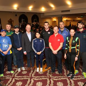 Some of the club representatives who came to the full house meeting with Cllr Pat Vance, Stephen Donnelly TD and Cllr Christopher Fox
