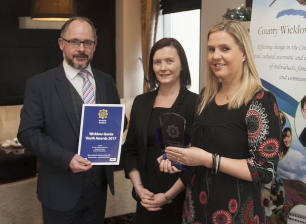 Brian Carty, Wicklow County partnership, Marianne Fox, Arklow Bay Hotel and Garda JLO Emma Skinner