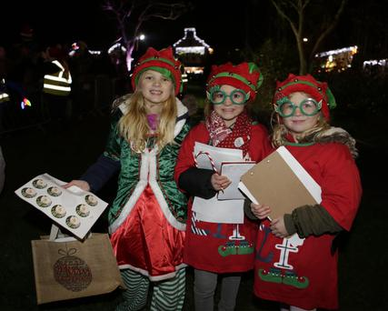 Santa's elves – Jessica Barry, Sophie Barry, and Holly Casserly