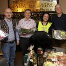 Club President Karl Ó Broin, Robert Byrne, Shu Rong, Jerry Teehan and Anne Blount at the Bray Lions Club Dream Auction at the Wild Goose