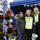 Rachel McLoughlin, Julie Cleary and Holly Fitzmaurice at Bray Rotary Club's giving tree