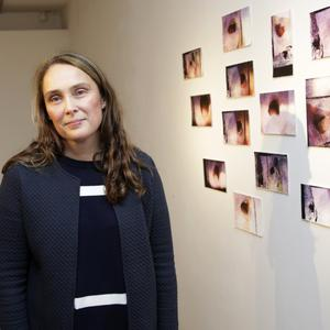 Emma Finucane at the opening of her exhibition at the Mermaid Arts Centre.